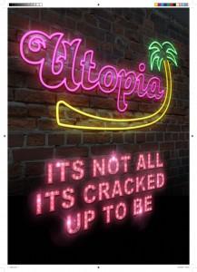 Utopia - White Night: Poster by Julius Bangert